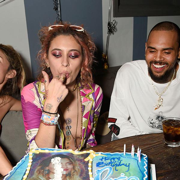 Chris Brown, Paris Jackson's 20th Birthday Party