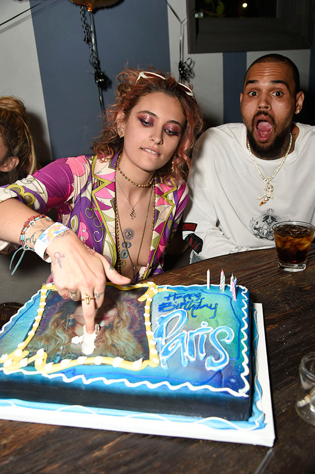 Chris Brown, Paris Jackson's 20th Birthday Party