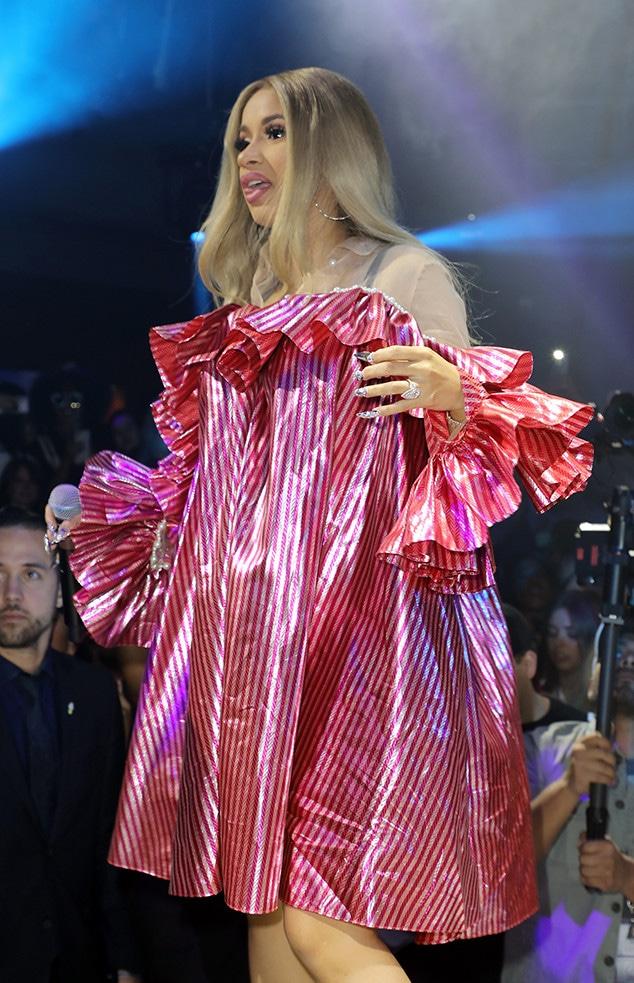 Cardi B, Loose-Fitting Dress, Album Launch Party