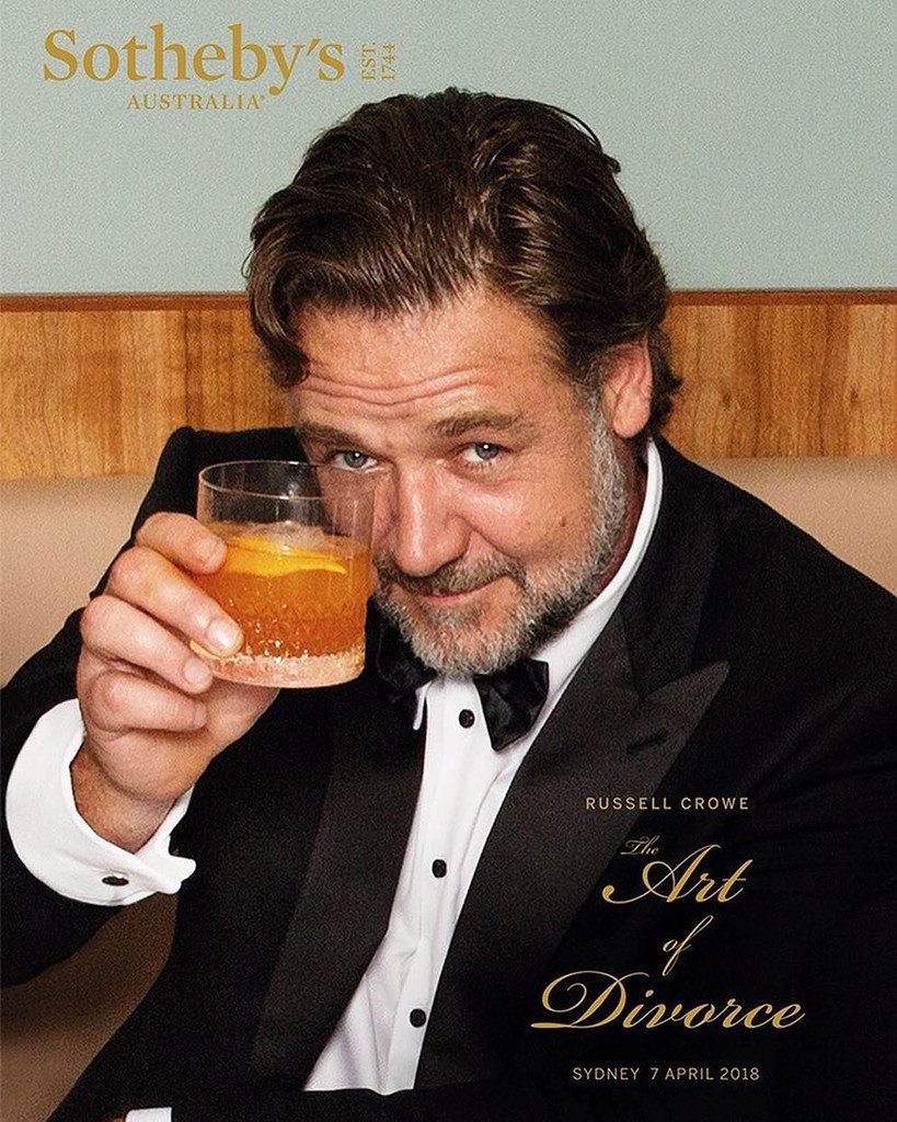 Russell Crowe, Art of Divorce, Sotheby's, auction