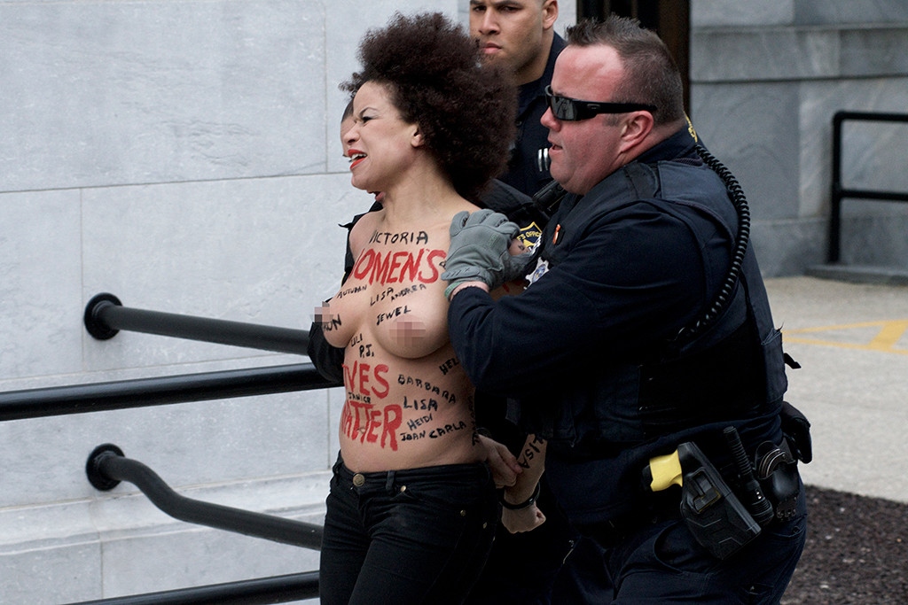 Protester, Bill Cosby Trial
