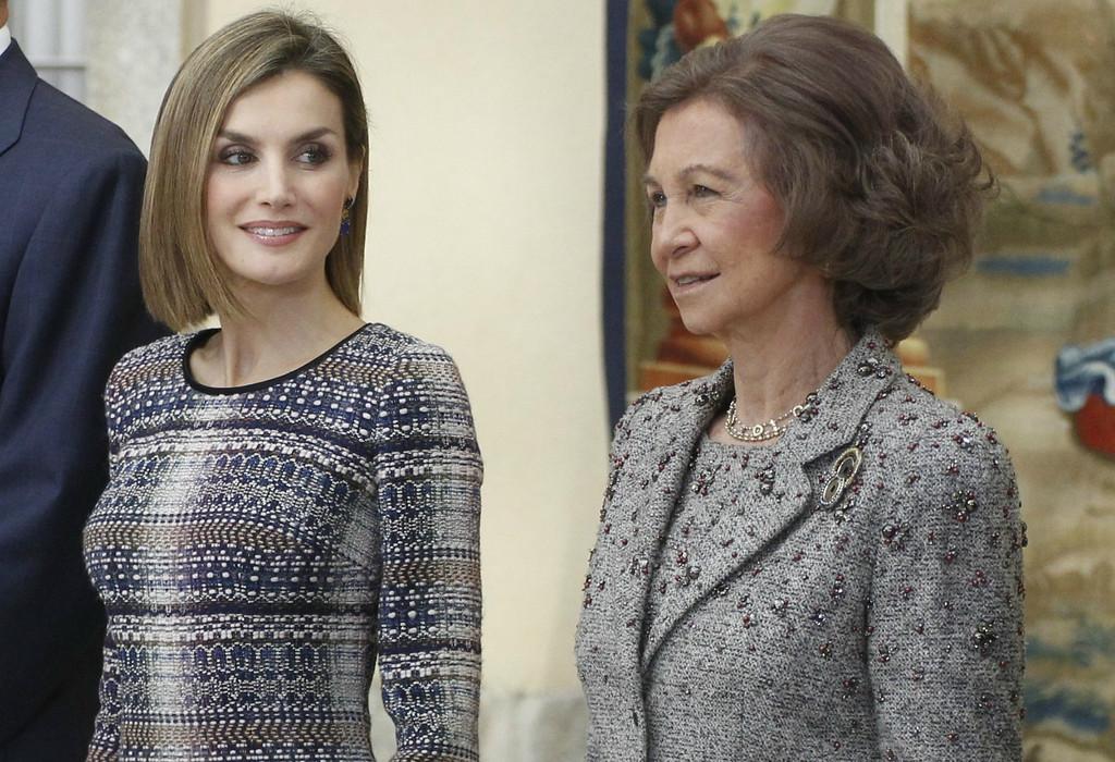 Reina Letizia, reina Sofia