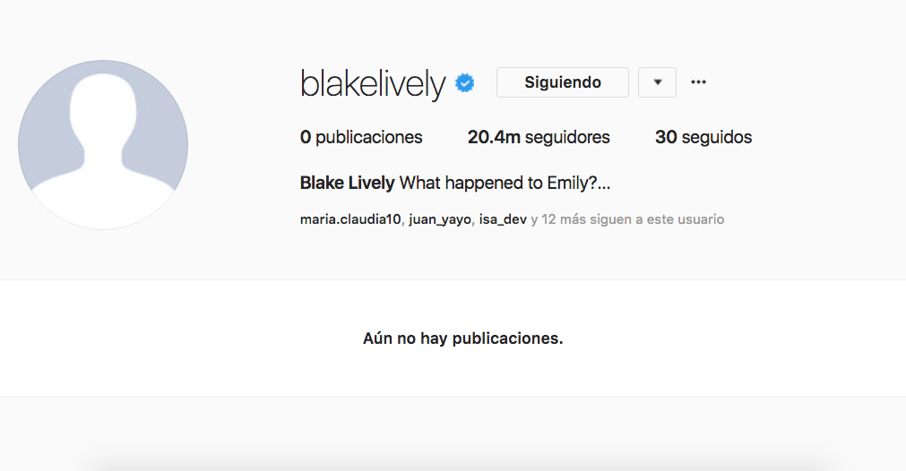 Blake Lively, Instagram