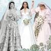 Royal Wedding Dresses, Queen Elizabeth, Kate Middleton, Princess Diana