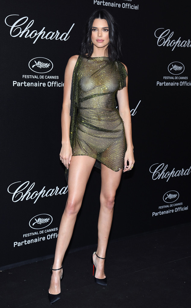 Image result for Kendall Jenner See-Through Dress at Cannes
