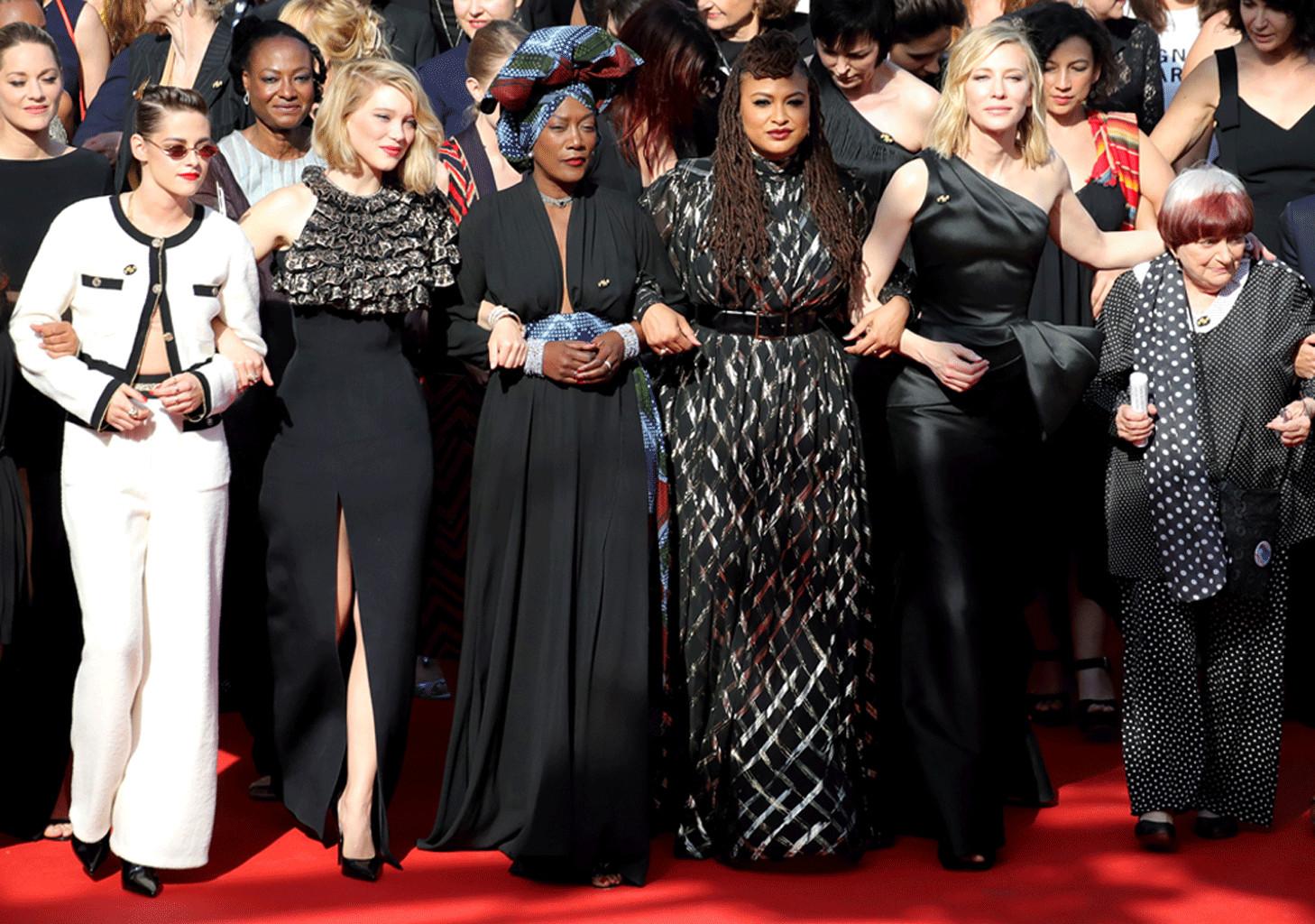 Kirsten Stewart, Lea Seydoux, Khadja Nin, Ava DuVernay, Cate Blanchett, Protest, Cannes Film Festival