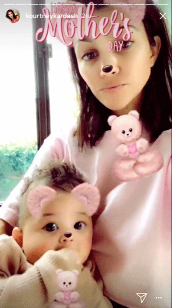 Kourtney Kardashian, Stormi Webster, Mother's Day 2018