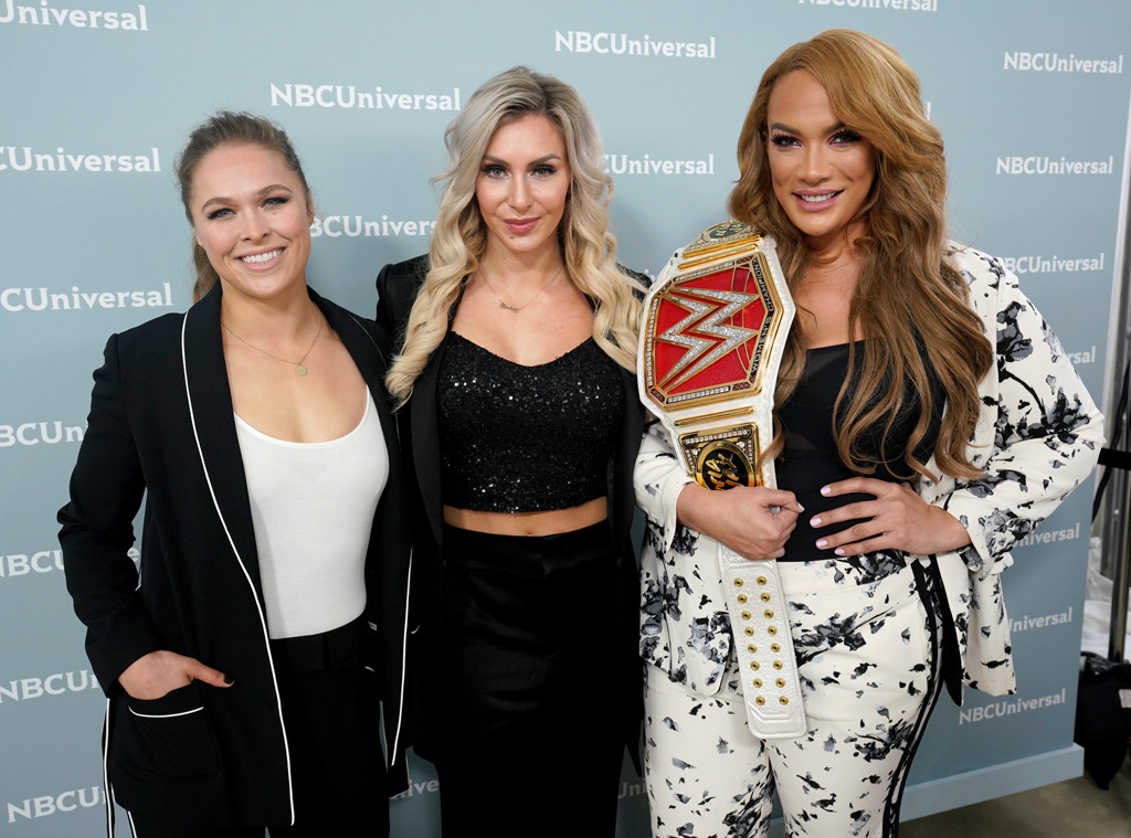 Ronda Rousey, Charlotte Flair, Nia Jax, NBCUniversal Upfront 2018