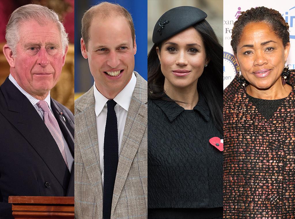 Prince Charles, Prince William, Meghan Markle, Doria Raglan