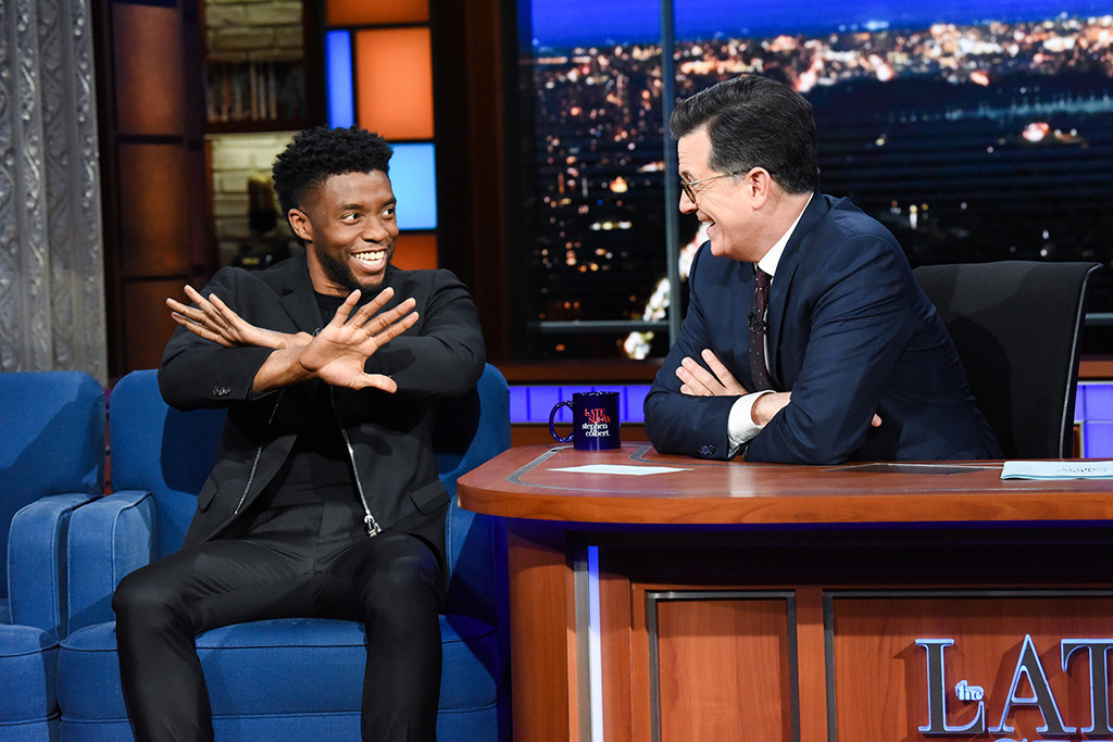 Chadwick Boseman, The Late Show