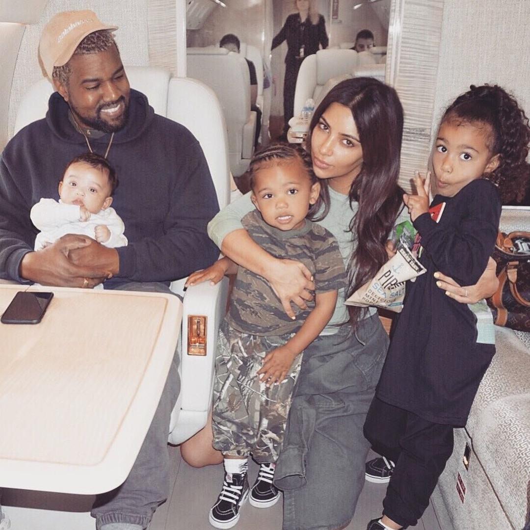 Kim Kardashian, Kanye West, Chicago West, North West, Saint West