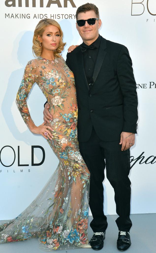 Paris Hilton, Chris Zylka, amfAR, 2018 Cannes Film Festival
