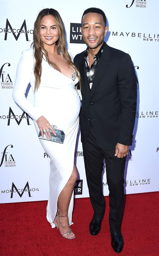 Chrissy Teigen, John Legend, 2018 Fashion Los Angeles Awards