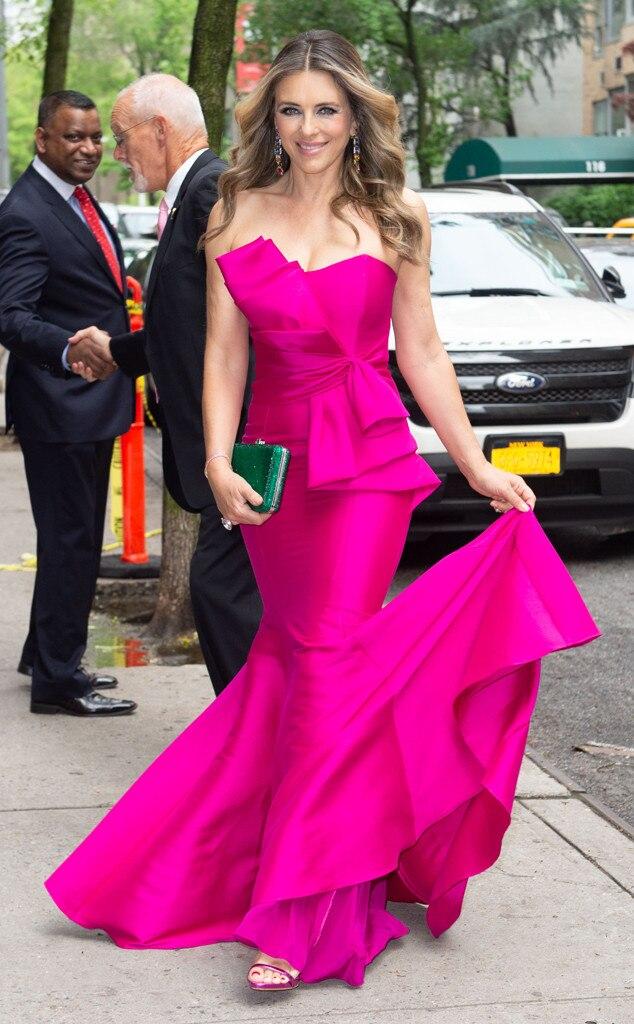 Elizabeth Hurley -  Pretty in pink!