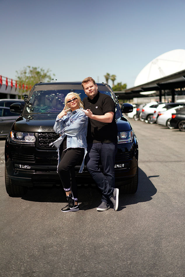 James Corden, Christina Aguilera