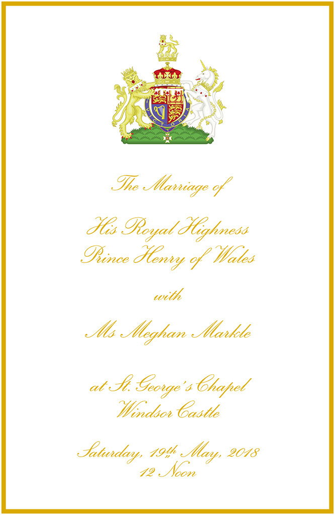 Royal Wedding, Order of Service, Prince Harry, Meghan Markle