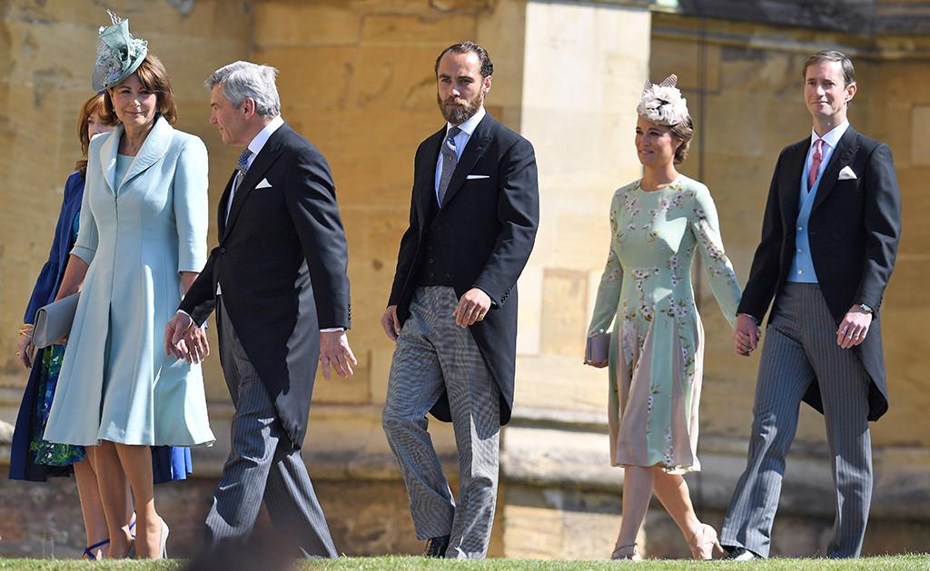 Carol Middleton, Michael Middleton, James Middleton, Pippa Middleton, James Matthews, Royal Wedding Arrivals