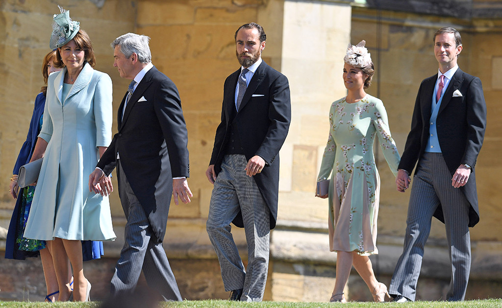 Carol Middleton, Michael Middleton, James Middleton, Pippa Middleton, James Matthews, Royal Wedding Arrivals