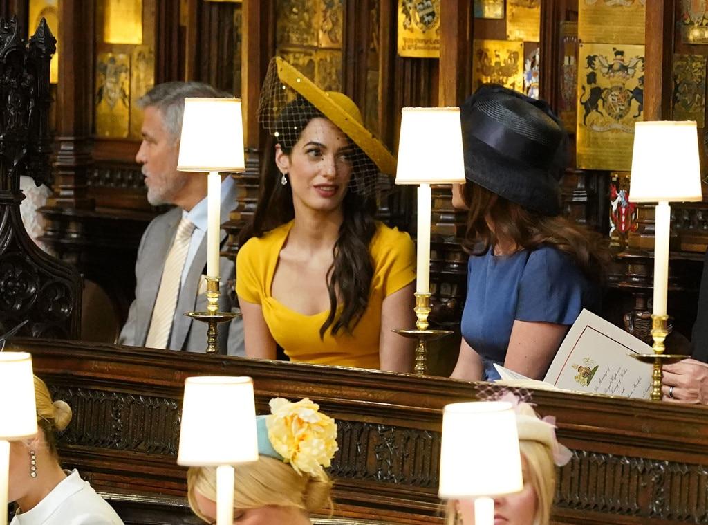Amal Clooney, George Clooney, Royal Wedding, Inside Chapel