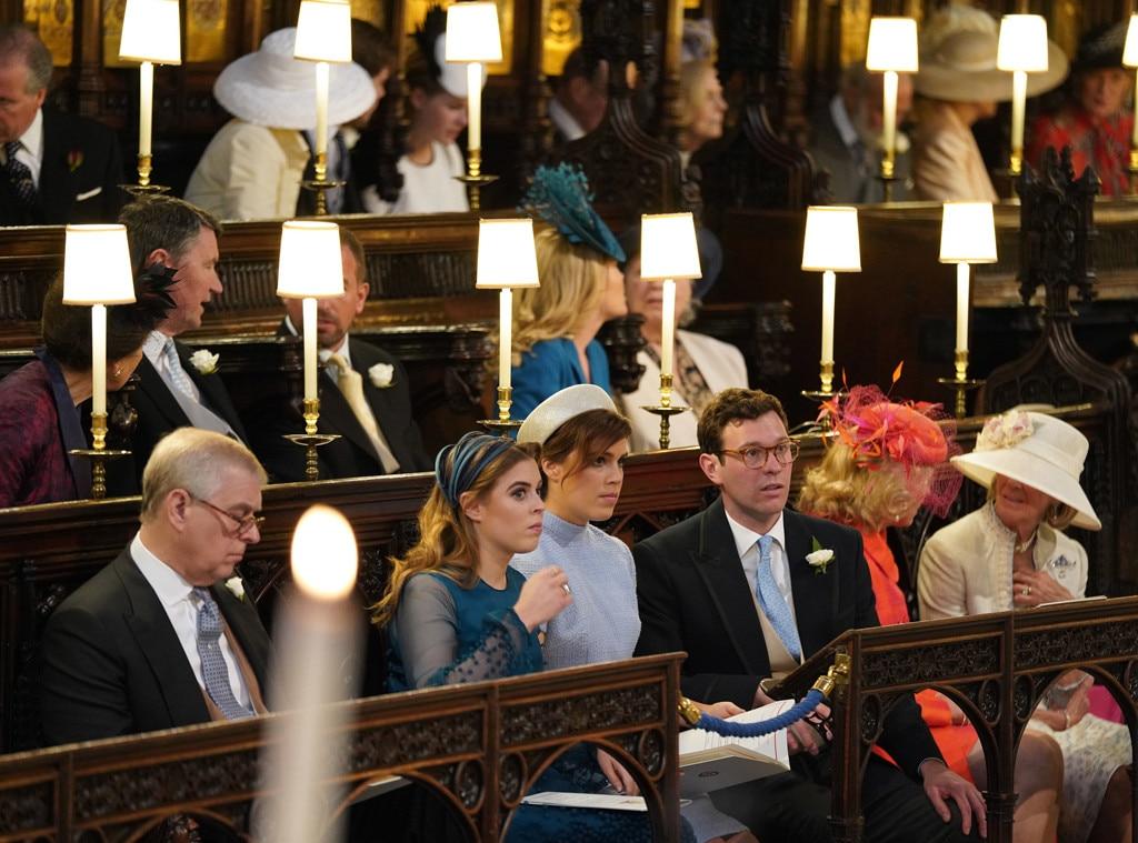 Prince Andrew, Princess Beatrice, Princess Eugenie,Jack Brooksbank, Royal Wedding, Inside Chapel