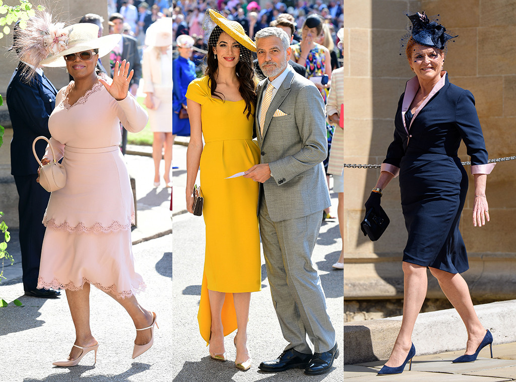 Oprah Winfrey, Amal Clooney, George Clooney, Sarah Ferguson, royal wedding