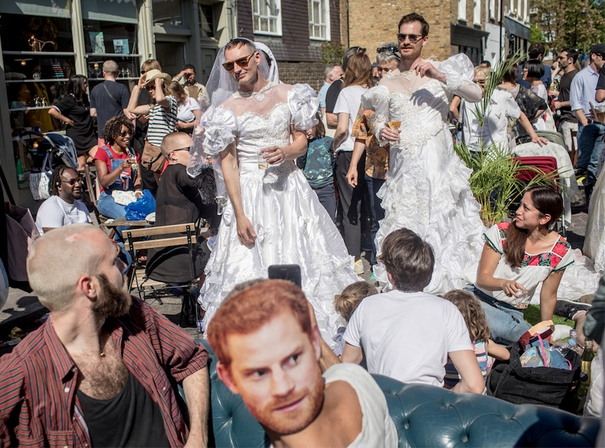 Royal Wedding Party.The Funniest Photos Of Super Excited Royal Wedding Fans E News