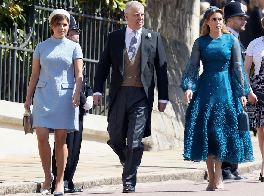 Princess Eugenie, Prince Andrew, Princess Beatrice, Royal Wedding Arrivals