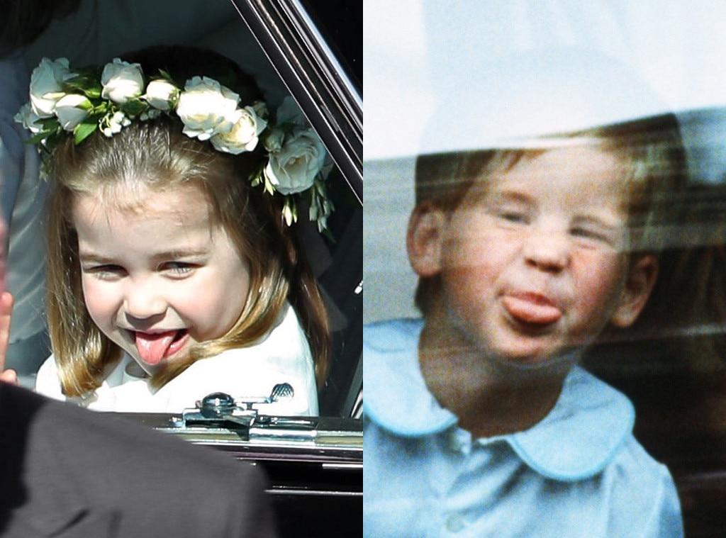 Princess Charlotte, Prince Harry, Sticking Tongue Out, Royal Wedding