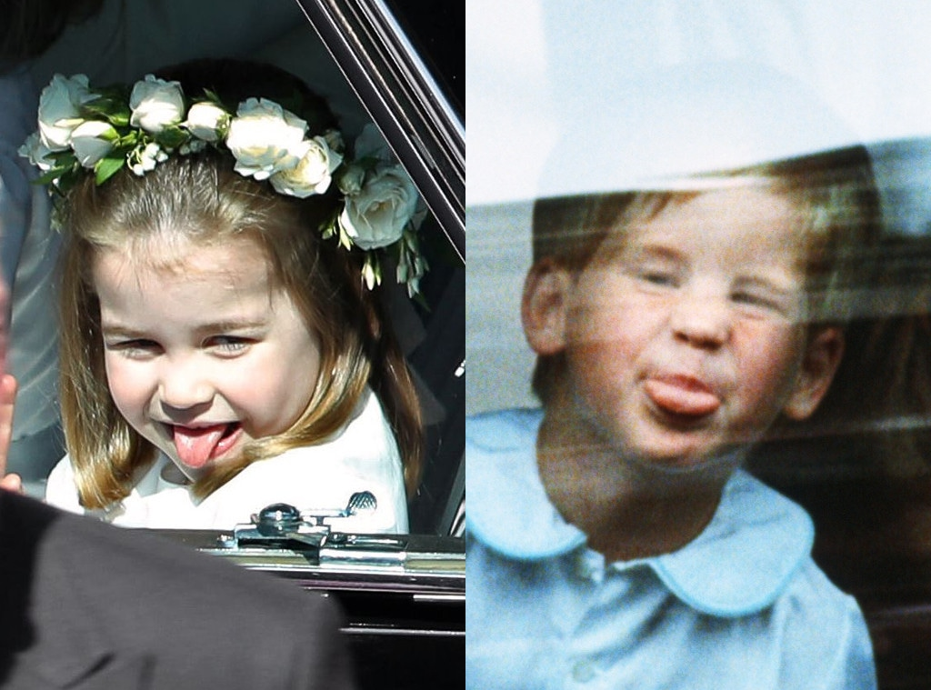 Princess Charlotte, Prince Harry, Sticking Tongue Out, Royal Wedding