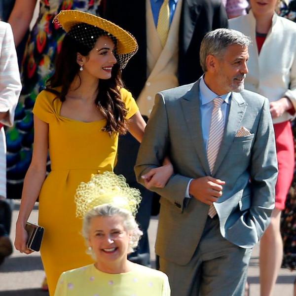 Amal Clooney, George Clooney, Royal Wedding Arrivals