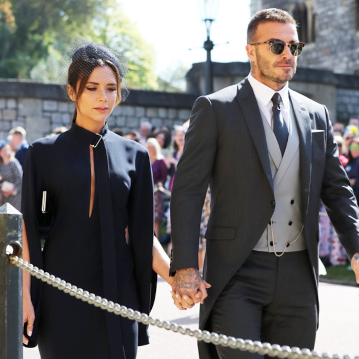 Victoria Beckham Turns Heads In Navy Dress At Royal Wedding Alongside David E News