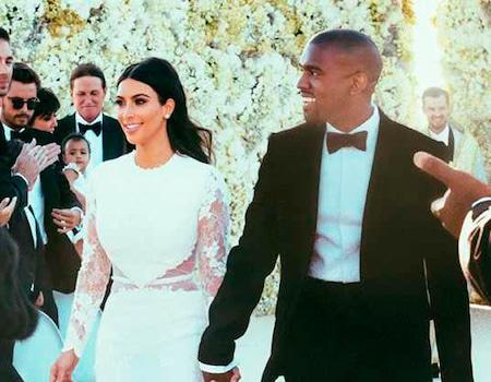 Kim Celebrates 4 Years of Marriage to Kanye With New Wedding Photo