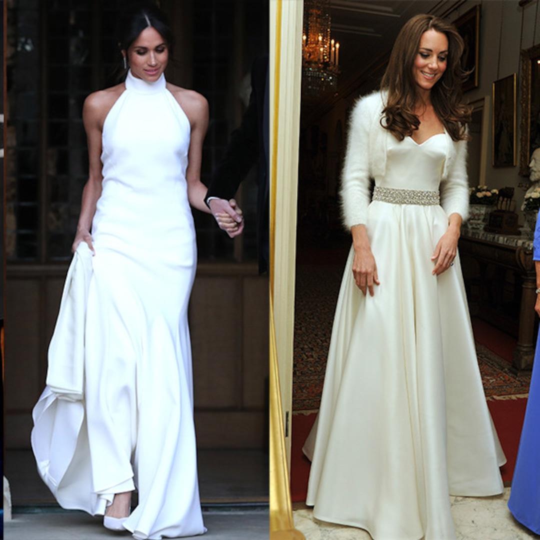 Comparing Meghan Markle And Kate Middleton S Reception Dresses E Online