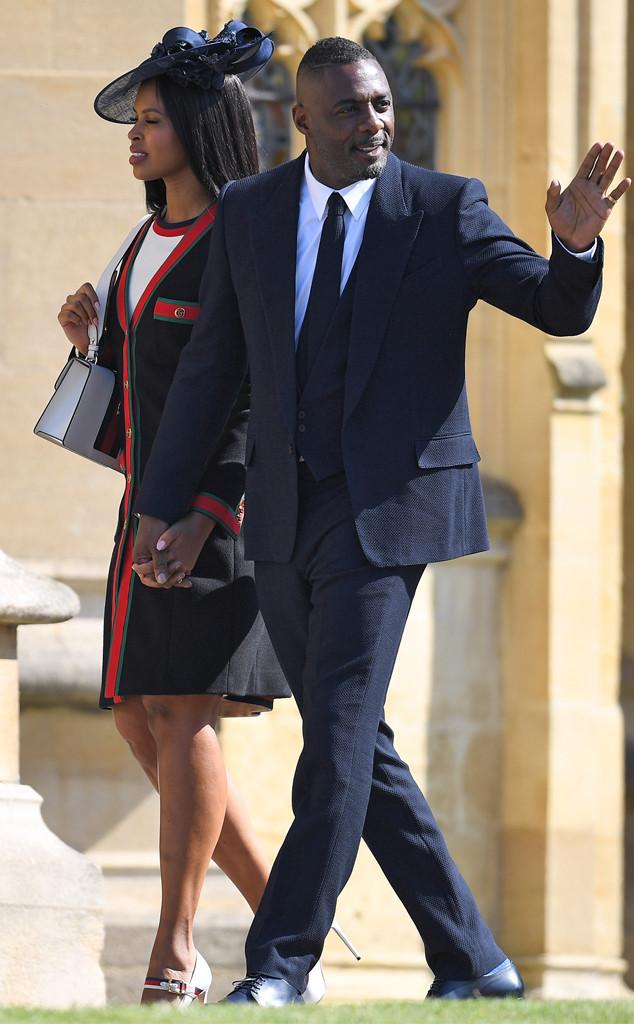 Idris Elba, Sabrina Dhowre, Royal Wedding Arrivals