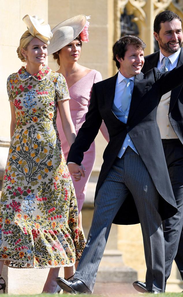 James Blunt, Sofia Wellesley, Royal Wedding Arrivals