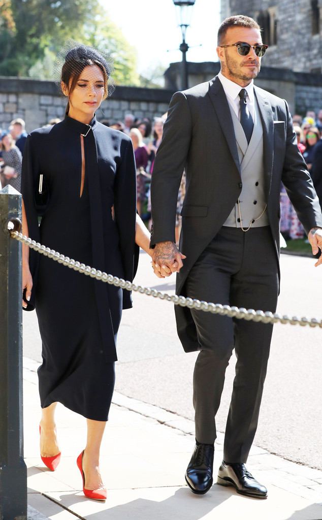 David Beckham, Victoria Beckham, Royal Wedding Arrivals