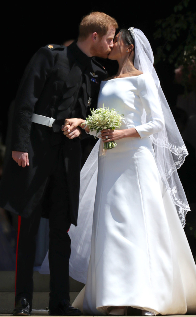 Meghan Markle, Prince Harry, Royal Wedding, Kiss