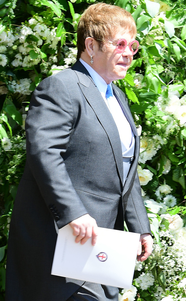 Elton John, Royal Wedding, Guests, Arrivals