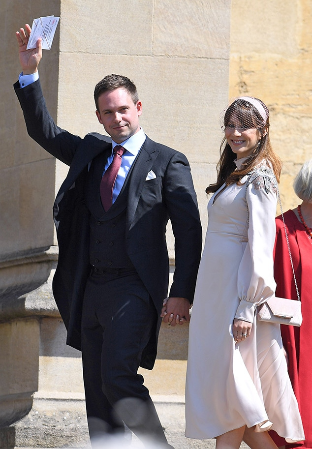 Patrick J. Adams, Troian Bellisario, Royal Wedding Arrivals