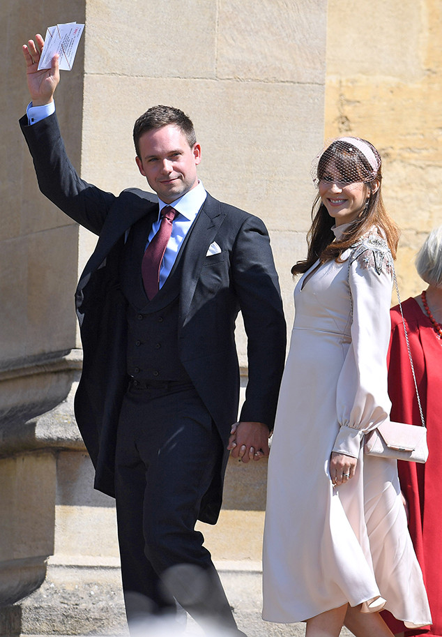 Patrick J Adams Troian Bellisario Royal Wedding Arrivals