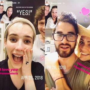 Emma Roberts, Lea Michele, Instagram