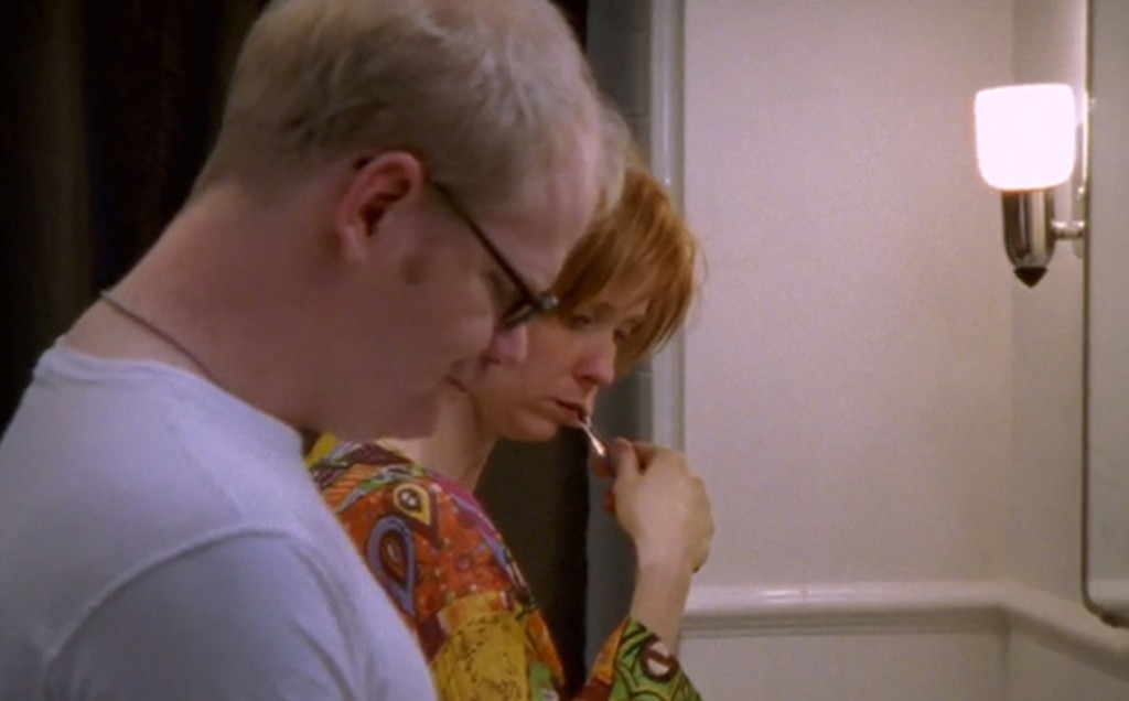 """Jim Gaffigan -  In """"Defining Moments"""" (Season 4), the comedian plays a New Yorker  cartoonist named Doug who strikes up a seemingly normal romance with Miranda. Unfortunately, Doug likes to use the restroom with the door open, a major no-no for Cynthia Nixon's titular character."""