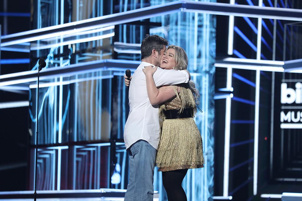 Simon Cowell, Kelly Clarkson, 2018 Billboard Music Awards
