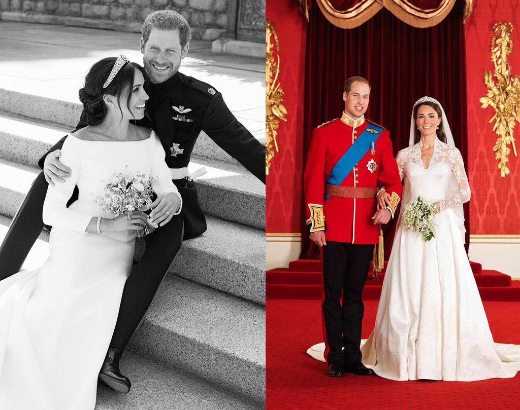 Official Wedding Portrait, Prince Harry, Meghan Markle, Prince William, Kate Middleton