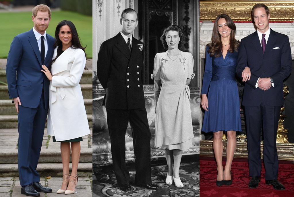 Prince Harry, Meghan Markle, Kate Middleton, Prince William, Queen Elizabeth, Prince Philip, Engagement Portrait