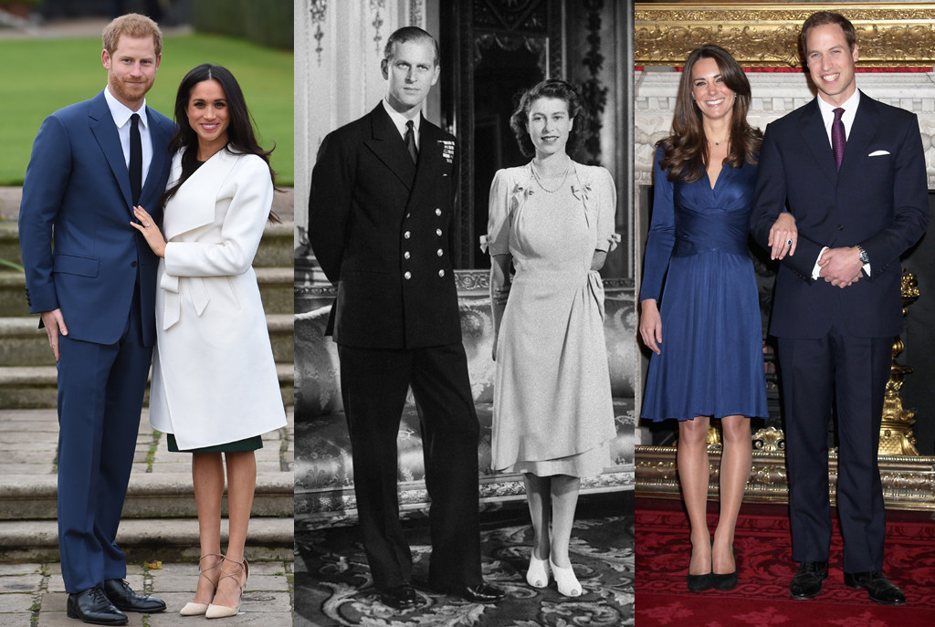 Prince Harry, Meghan Markle, Kate Middleton, Prince William, Queen Elizabeth, Prince Philip, Engagement Portrait
