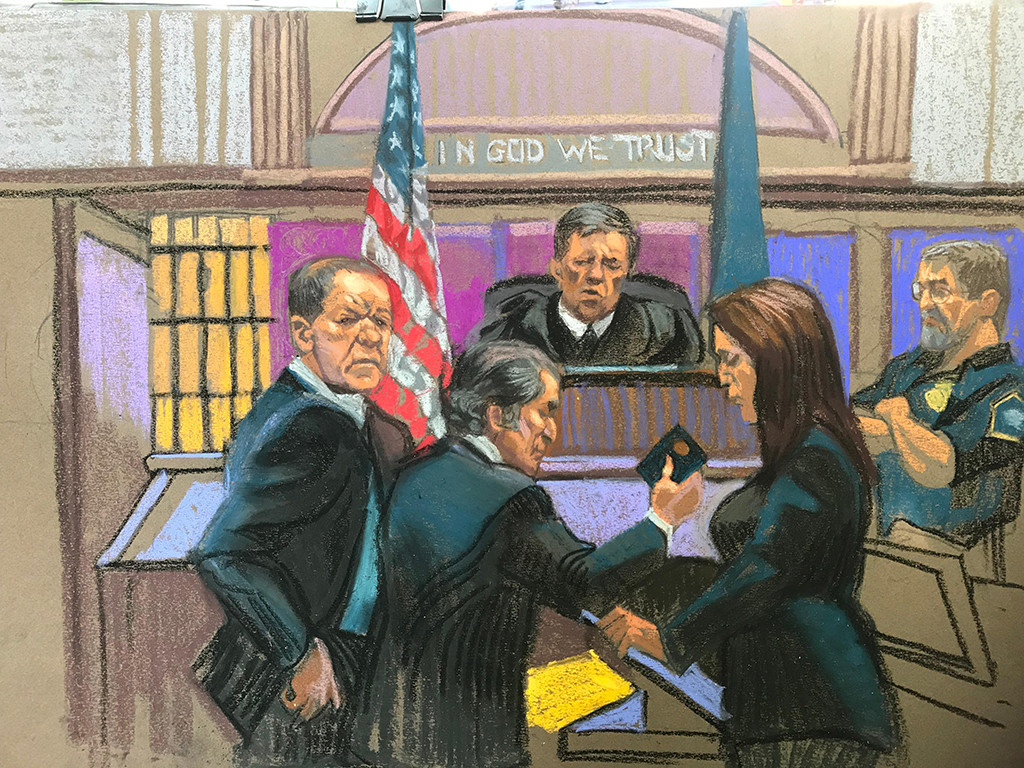 Harvey Weinstein, Courtroom Sketch