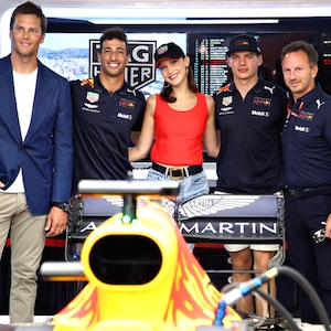 Tom Brady, Daniel Ricciardo, Bella Hadid, Max Verstappen, Monaco Formula Grand Prix