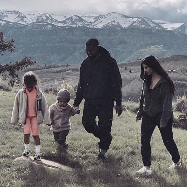 Kim Kardashian, Kanye West, North West, Saint West, Wyoming