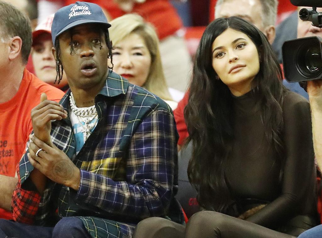 Kylie Jenner and Travis Scott Enjoy Courtside Date Night at NBA Playoffs | E! News